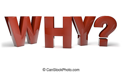 why? - render of the question why?