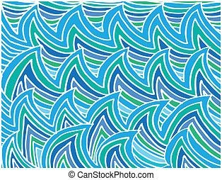 Abstract water waves background Vector illustration