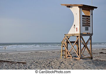 Lifeguard Tower - wooden lifeguard tower overlooking the...