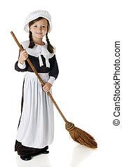 Pilgrim Sweeping