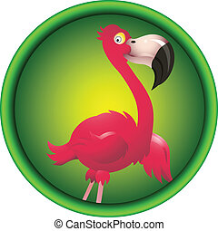 cute flamingo cartoon - vector illustration of cute flamingo...