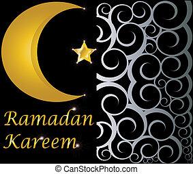 ramadan kareem muslim crescent - ramadan kareem muslim gold...