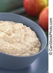 Maca-Oatmeal Porridge - Bowl of cooked oatmeal porridge...