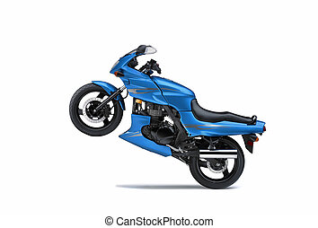 Prototype moto on white background