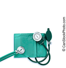 sthetoscope isolated over a white background. Medical...