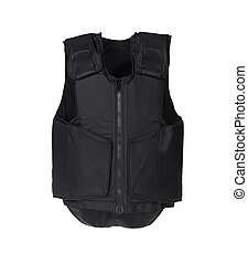 Bulletproof vest. Isolated on white.