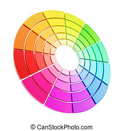 Color range spectrum circle round palette isolated - Color...