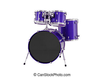 drums isolated with clipping path