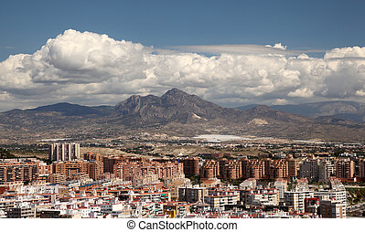 View over the city of Alicante, Catalonia Spain