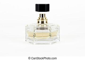 bottle of perfume isolated on white background
