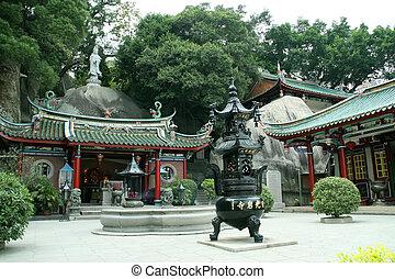 Chińczyk, świątynia, krajobraz