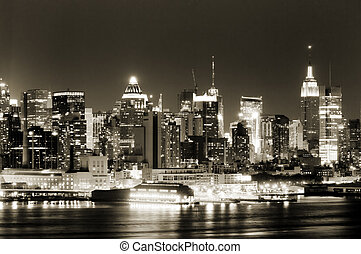 Manhattan West side - View of Manhattan West side from New...