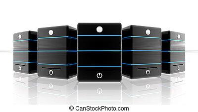 Black storage for web banner or top header