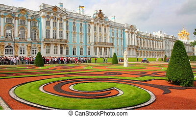 Catherine Palace in Pushkin, St Petersburg - timelapse