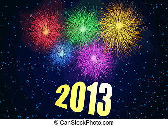 Happy New Year 2013 background, vector illustration