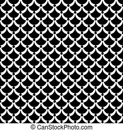 Seamless texture Fish scale pattern Vector art
