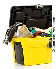 set of tools in toolbox