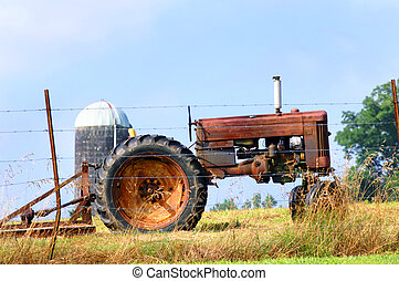 Agricultural Relic - A relic of farming is parked at the...
