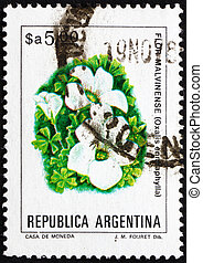 ARGENTINA - CIRCA 1983: a stamp printed in the Argentina...