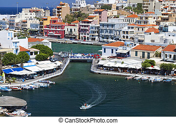 Agios Nikolaos at Crete island - Agios Nikolaos city of the...