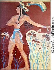 Knossos, Palácio, crete, Grécia
