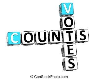 3D Counts Votes Crossword