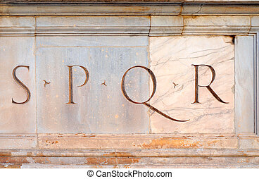 Senatus PopulusQue Romanus, the senate and the people of...
