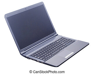 isolated laptop computer with 2 clipping path laptop outline...