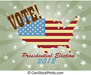 Vote Presidential Election 2012 USA Map
