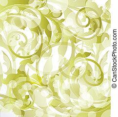 Floral ornamental background, design elements