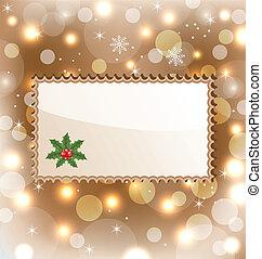 Christmas greeting card - Illustration Christmas greeting...