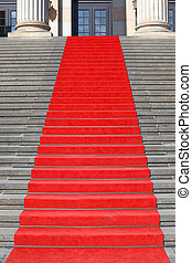 Red carpet stairs, success - Red carpet stairs, clipping...