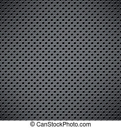 Metal background with circular grid