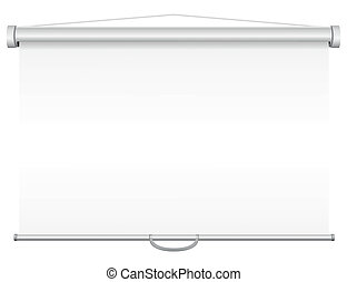 blank portable projection screen vector illustration...