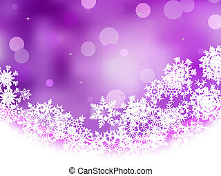 Violet background with snowflakes. EPS 8