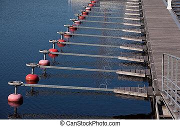 Marina docks - Empty marina with clear water