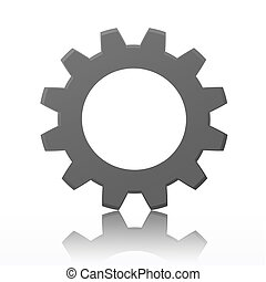 Gears - Rendered gears isolated against a white background