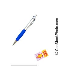 Sign Here - A conceptual business image using sign here post...