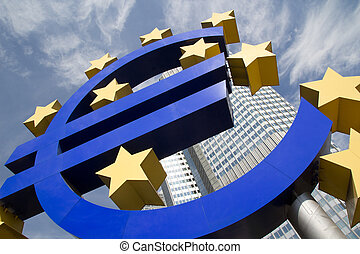 Euro Sign - FRANKFURT, GERMANY - AUG 23: The Famous Big Euro...