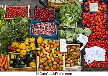 marketplace - Fresh fruits and vegetable at a market