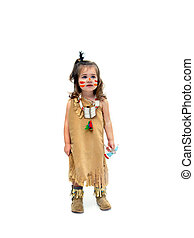 Indian Child Dressup - Little girl, dressed as an indian...