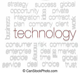 TECHNOLOGY. Word collage on white background