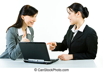 Confident specialists - Photo of two attractive women...