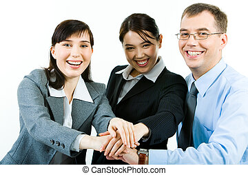 Business partnership - Portrait of three business partners...