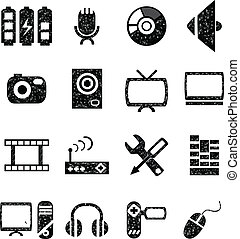 Video And Audio Icon Set