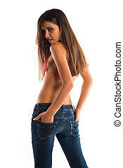 Romanian - Beautiful slender Romanian brunette in a bikini...