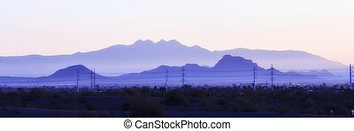 Sunrise over Arizona - Early sun rises over the Arizona...