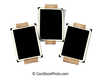 Photo-framework retro Isolated on a white background