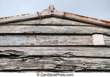 Old House - Close up of an old wall and roof of an old...