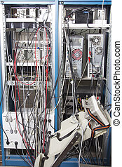 Cable mess in nuclear laboratory - Back side of lab...